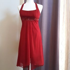 Dresses & Skirts - Red Prom Dress, halter, Midi, Medium